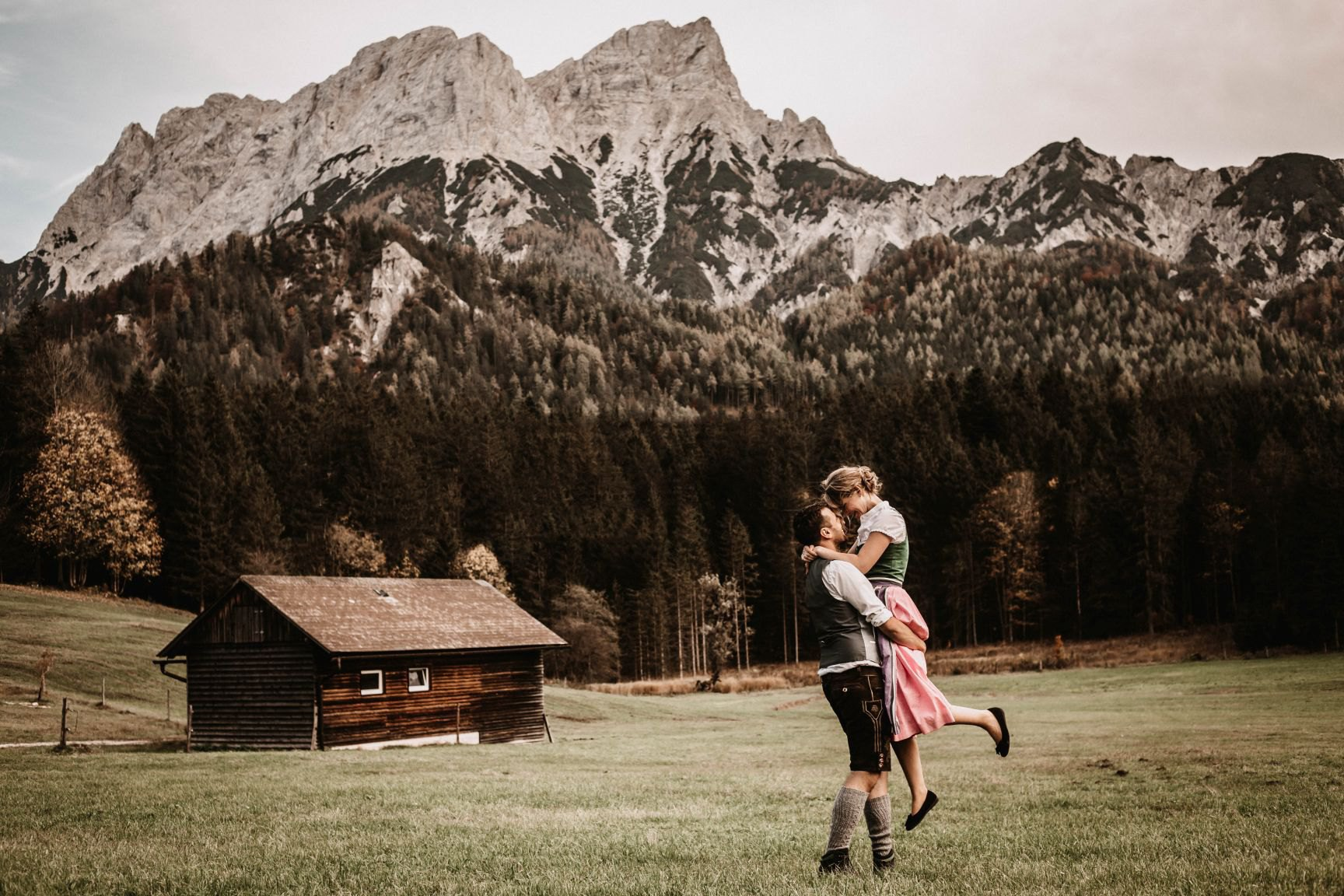 Lotte & Barry I Love session in Austrian Alps